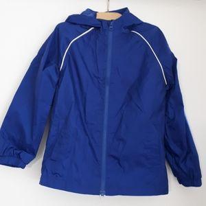 Joe Fresh Raincoat/Jacket/Windbreaker Blue Size S